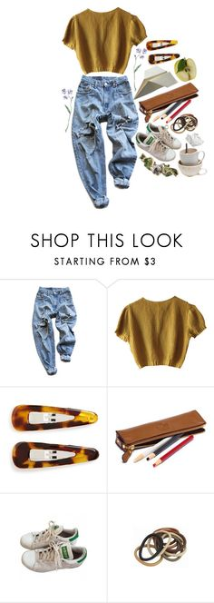 """""""Homework assignments"""" by just-a-dreamer202 ❤ liked on Polyvore featuring Levi's, Schumacher, France Luxe, adidas and ...Lost"""