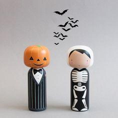 Halloween Kokeshi Dolls - Sketchinc                                                                                                                                                                                 More