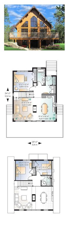 51 best A Frame House Plans images on Pinterest   Architecture     A Frame House Plan 76407   Total Living Area  1301 sq  ft