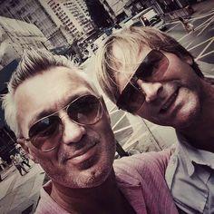 """The boys in HK Central! Gary Kemp, Martin Kemp, Grey Hair, Pilot, Handsome, Ballet, Norman, Hong Kong, Music"