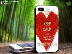 Keep Calm And YOLO Valentine Crown Design For iPhone by SidePucket, $14.89