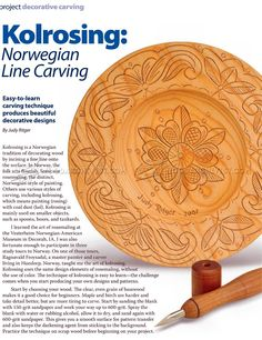 #1369 Line Carving - Wood Carving Techniques - Wood Carving Patterns and…