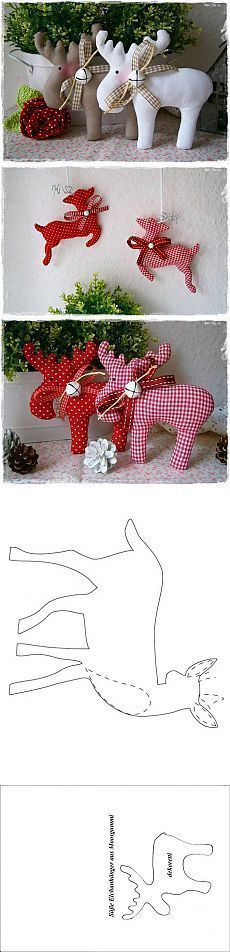 DIY Reindeer, Moose - Love them! #шитье@shkatulka_handmade