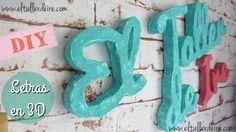 El taller de Ire: Cómo hacer letras en 3D