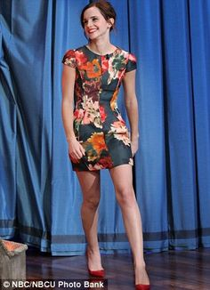 Structured Floral Dress Emma Watson <3