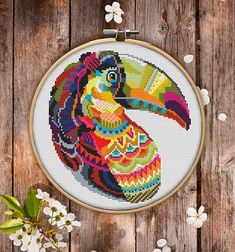 This is modern cross-stitch pattern of Mandala Toukan for instant download. You will get 7-pages PDF file, which includes: - main picture for your reference; - colorful scheme for cross-stitch; - list of DMC thread colors (instruction and key section); - list of calculated