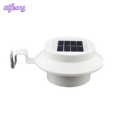 3pcs Led Solar Light Gutters Luminaires Set Fence Hallway Home Lighting Security Lamp Clh@8 Led Lamps