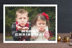 Deckled Post Christmas Photo Cards by community designers at minted.com