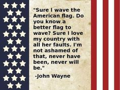 Wayne & his country