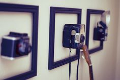 Vintage Cameras as art. Might have to do this. Via Pocketful of Pretty.