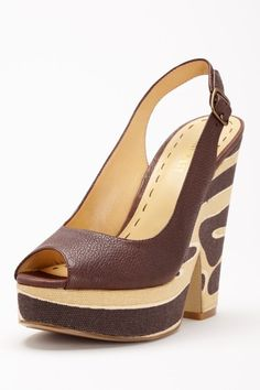 I would totally die, but they're fun nonetheless: Nine West Trippy Wedge Sandal
