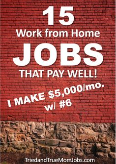 Do you want to work from home? If so, you'll want to read this! Hear from the people who do these jobs today, how they got started, and most importantly how much they earn. Check it out and start a new revenue stream today. Earn Money From Home, Way To Make Money, Make Money Online, Legitimate Work From Home, Work From Home Tips, Online Work, Making Ideas, Business Ideas, People