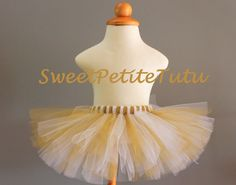 White and Gold tutu White and Shimmery Gold by SweetPetiteTutu