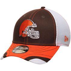 4e21478c ... wholesale cleveland browns new era tumbled neo 39thirty flex hat brown  white a3244 10e5a