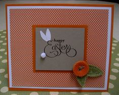 Today's a card I made using the new SU! Well Scripted set. I stamped the salutation word Happy Easter and turned it into a bunny!  So easy a...