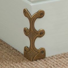 Buy Solid brass corner protectors, Stair rods - Corner protectors in 3 sizes and 7 finishes