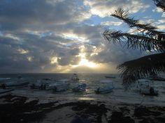 Puerto Morelos beach sunrise Puerto Morelos, Beach Sunrise, Riviera Maya, Tulum, Sunsets, Beaches, Mexico, Outdoor, Playa Del Carmen