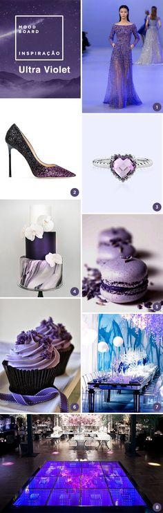 Para começar o ano, fizemos um moodboard com 8 ideias para uma festa de 15 anos inspirada na cor de 2018, a Ultra Violet.