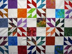 Hunters Star quilt - provides link to a video by Missouri Star Quilt Co for an easy way to make this quilt