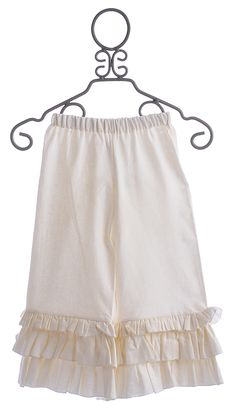 A Bird Girls Linen Pants with Triple Ruffle Hem $58.50