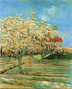 Orchard in Blossom 1888. Vincent van Gogh