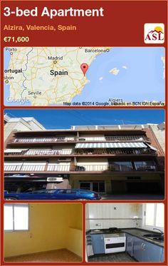 3-bed Apartment in Alzira, Valencia, Spain ►€71,600 #PropertyForSaleInSpain