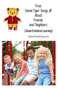 Free Daniel Tiger song videos about friends and neighbors to help young children develop social emotional learning strategies - Bits of Positivity 90 Songs, Free Songs, Helping Children, Young Children, Daniel Tiger Songs, Thank You Song, Positivity Blog, Youtube Songs, Kids Pages