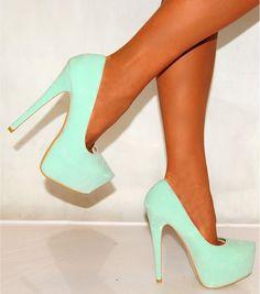 Mint Green Shoes ♡.