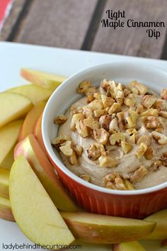 Light Maple Cinnamon Dip is an addictive dip that goes perfectly with apple slices. Make this dip on the weekend and take it to work for a mid morning sna