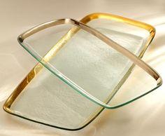 Annieglass Roman Antique Collection, Extra Large Rectangular Platter