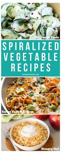 Zucchini isn't the only thing you can use with your Spiralizerthere are so many different veggies to use! Here are the top Spiralized Vegetables and the amazing recipes to go with them.