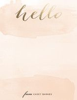Hello Friend Foil-Pressed Personalized Stationery... | Minted