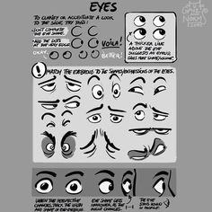 """Hi guys. We are reprinting our Tuesday Tips for CTN this November. Thank you for your support and see you then.  Today's tip is from on of our pages in the book --EYES.  Eyes are what convey most of someone's expression. Body language is important, but """"eyes don't lie"""". There's a reason why someone who's lying will generally try to avoid eye contact. We are biologically set-up to """"read"""" someone's inner feelings by looking at their eyes.  #norm #grizandnorm #grizandnormtuesdaytips…"""