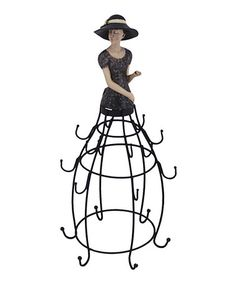 Take a look at this Black Jewelry Stand by The Import Collection on #zulily today!