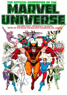 The Official Handbook of the Marvel Universe Volume Eight: Werewolf to Zzzax, Book of the Dead: Air-Walker to Dorcus, Dr. Lemuel - Paul Ryan, Colors - Bob Sharen