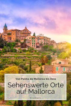 Unsere Lieblingsinsel Mallorca hat viele schöne Orte zu bieten. Welche ihr während eures Urlaubs auf der Balearen Insel ansteuern solltet, hängt davon ab, wie ihr euren urlaub verbringen möchtet. Ich gebe euch einen guten Überblick über die sehenswertesten Orte im Norden, Osten, Süden und Westen von Mallorca. Lasst euch inspirieren. #mallorca #spain #travel #urlaub #sightseeing