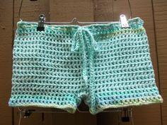 Crochet Mesh Shorts - Women Boy Shorts - Open Weave Shorts - Summer Fashion - Beach Cover-Up - Vegan Friendly (27.50 USD) by GabysSchaufenster