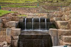 """Tipon water channeling. The photographer noted."""" What makes Tipon an interesting Inca site is the sophisticated water distribution through the agriculture teraces. photo by McKay Savage"""