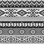 Vector Seamless Tribal Pattern for Textile Design. Black and White Ethnic Background with Rhombuses, Triangles and Stripes