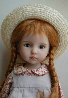 "Kuwahi Dolls: ""Anne of Green Gables"" (Little Darling) Dianna Effner Sculpt ~ Artist: Joyce Matthews Victorian Dolls, Antique Dolls, Vintage Dolls, Clay Dolls, Doll Toys, Art Dolls, Dolls Dolls, Dollhouse Dolls, Miniature Dolls"