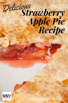 I usually love making strawberry rhubarb pie, but I haven't yet been able to find rhubarb in stores. So I improvised and used the apples I had on hand instead!