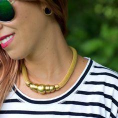 Vintage Gold Toned Choker Necklace
