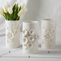 Two's Company Capo-Di-Monte Ivory Decorative Vases