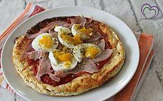 Pizza Dukan con prosciutto e uovo