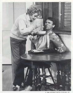 "Lucille Ball and John Ritter in ""Life With Lucy"". R.I.P."