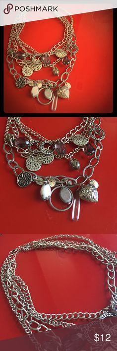 2 Necklace Bundle! Worn a few times. Have a pewter/antique finish but are only a year and a half old. Purchased from a local craft show. They have been cleaned, but do still show some wear. I considered that in the price. Homemade Jewelry Necklaces