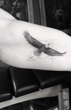 Flying eagle tattoo for men - 110 Lovely Bird Tattoo Designs