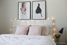 Makuuhuoneen matka kevääseen - pellavaa ja pastellia   Coconut White