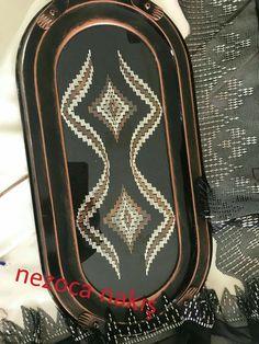 Tel ile bargello tekniği uygulandı, Nezahat Özel tarafından kursumuzda çalışıldı Bargello, Gucci Soho Disco, Embroidery, Crochet, Craft, Ideas, Hardanger Embroidery, Hand Embroidery, Rugs