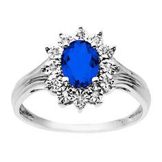 Fred Meyer Jewelers | Created Sapphire and Diamond Ring $275 #FredMeyerJewelers  #GiftsThatDelight